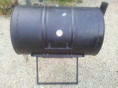 How to Make an Oil Drum BBQ Smoker: 13 Steps (with Pictures) Bbq Grill, Grilling, Oil Drum Bbq, Drum Smoker, Smoking Meat, Drums, Homemade, Outdoor Decor, Projects