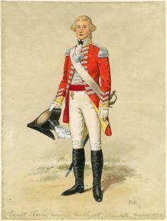 British; 6th (Inniskilling) Regiment of Dragoons, Cornet Thomas M Mellycott, 1792 by P W Reynolds