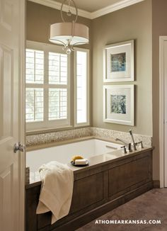 Bathroom tub surround - Soothing Sanctuary | At Home Arkansas