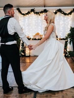 First dance - just look at that dress! Ivory Wedding, First Dance, Wedding Planning, June, Elegant, Wedding Dresses, Gold, Beautiful, Black