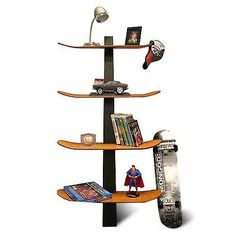 skate deck bookcase