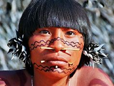 Venezuela ~ Brazil | Portrait of a Yanomami girl. The Yanomami are one of the largest indigenous tribes in the Amazon. Some authors have used various other names and spellings, including Guaharibo, Guaica, Guajaribo, Ianomâmi, Yanoama, Yanomama, Yanomame, and Xirianá. There are approximately 30,000 Yanomami living in southern Venezuela and northern Brazil. | ©Amazon - Indians.org