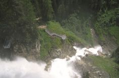 Cascata Stuibenfall - valle Ötztal   Tirolo austriaco