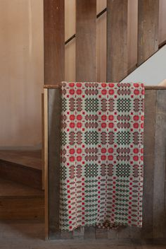 A hand woven original welsh blanket. This rug is reversible revealing a complimentary design. Retrouvius Reclamation and Design Weaving Patterns, Textile Patterns, Textiles, Loom Weaving, Tapestry Weaving, Hand Weaving, Welsh Blanket, Wool Blanket, Tapestry Bedroom