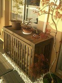 室外機カバー匠<WILLベランダガーデン> Air Conditioner Cover, Small Balcony Garden, Awning Canopy, Outdoor Cover, Small Gardens, Garden Inspiration, Outdoor Tables, Outdoor Living, Diy And Crafts