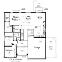 Main Level   Floor Plan of   Style Home