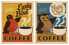 Night Owl Coffee Print poster Designed to look like a vintage print from the early to the Night Owl Coffee print by Anderson Design Group. Owl Coffee, I Love Coffee, Coffee Shop, Coffee Break, Coffee Lovers, Night Coffee, Coffee Life, Coffee Barista, Vintage Ads
