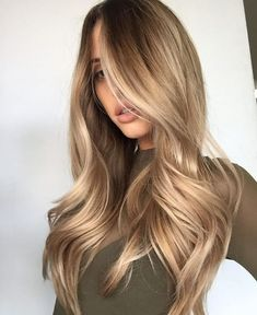 dark blonde long hair