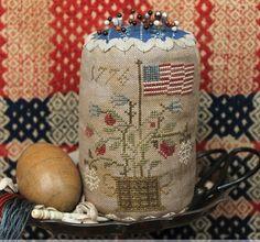 Heartstring Samplery ~ Grand Old Flag Pin Drum