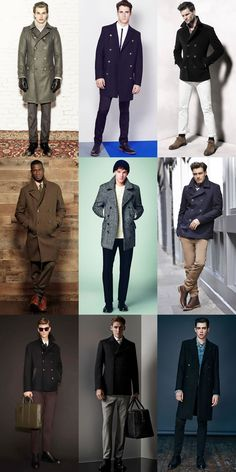 Men's 2014 Autumn/Winter Military Trend : Military Officer-Inspired Outerwear The Pea Coat Lookbook Inspiration