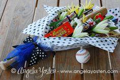 Baseball Coach Bouquet and Buckets :Angela Yosten