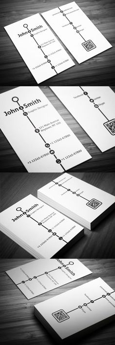 Buy Creative Timeline Business Card by malinemati on GraphicRiver. Features: › Double-sided › Vertical Business Card › CMYK Color Mode › 300 DPI High Resolution › Easy to customize col.