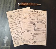 """Hochzeitsgästebuch - 30 Gästekarten ❤ zum Ausfüllen, """"Sketch"""", DIN A5 - ein Designerstück von Feenstaub-Papeterie bei DaWanda"""