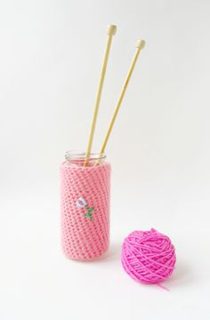 Little Things Blogged: Crochet Floral Cozies