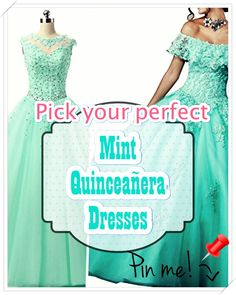 Quinceanera Guide - Mint Quinceanera Dresses In Autumn Shades. Opt for one of these Mint quinceanera dresses for your big day! Mint Quinceanera Dresses, Quinceanera Party, Peplum Dress, Dress Up, Cute Dresses, Formal Dresses, Quince Dresses, Young Female, Girl Birthday