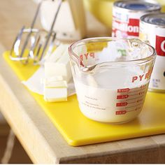 Make your own evaporated milk: to produce 1 cup of evaporated milk, simmer 2 1/4 cups of regular milk down until it becomes 1 cup.