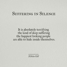 Nikita Gill - Suffering in Silence