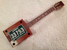 cigar box ukulele - Lisence Plate Resonator