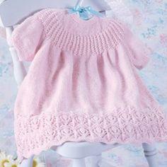 Pink Lotus Baby Dress Knit Pattern