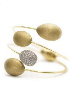 k di Kuore 18k yellow gold and diamond Crossover Pod bracelet.