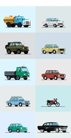 Soviet Cars on Behance