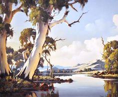 Paintings - Ivars Jansons - Page 3 - Australian Art Auction Records Landscape Drawings, Landscape Pictures, Watercolor Landscape, Abstract Landscape, Landscape Paintings, Scenery Paintings, Oil Paintings, Australian Painting, Australian Artists