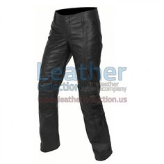 Fashion Leather Pant, Made of High Quality Soft Leather, The Ability To Easily Remove, Perfect For Casual Wear, Two Front Side Pockets