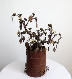 Forever Blooms Barbed Wire Flowering Bush With by thedustyraven, $125.00