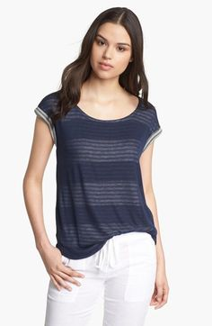 Splendid Double Layer Stripe Tee available at #Nordstrom