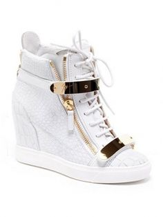 This is perfect for running around on Turkey Day or at the mall Giuseppe  Zanotti Spring 2013 Wedge Sneaker 5922796d4427