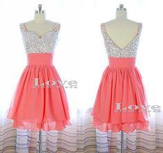 Custom Made A-line Sequin Short Prom Dresses, Short Homecoming Dresses, Bridesmaid Dresses, Dress For Prom