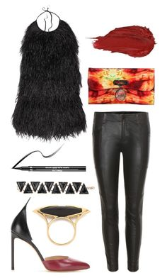 """Night Out"" by dominosfalldown ❤ liked on Polyvore featuring J Brand, Balmain, Christian Louboutin, Francesco Russo, Maiyet, Urban Decay and Sephora Collection"