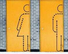 Image result for kissing restroom signs