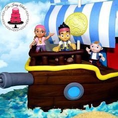 Today we are making a Jake and the Never Land Pirates cake! So for their birthdays I made Jake's pirate ship cake! I had an absolute blast making this cake. Youtube Cake Decorating, Cake Decorating Tutorials, Boy Birthday Parties, 2nd Birthday, Birthday Ideas, Sailor Cake, Pirate Ship Cakes, Artist Cake, Cakes For Boys