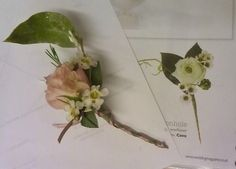 Newest design elements for a corsage! longer stem, garden style flowers, and subtle colors.  A fantastic combination between classic and modern elements!