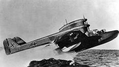 """The Blohm & Voss BV 138 nicknamed Der Fliegende Holzschuh """"flying clog""""German flying boat ."""