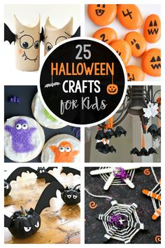 25 Fun Halloween Crafts for Kids, Preschoolers, and Toddlers (Edible Crafts too!) Halloween Arts And Crafts, Halloween Crafts For Toddlers, Halloween Crafts For Kids, Toddler Crafts, Preschool Crafts, Halloween Fun, Holiday Crafts, Halloween Sewing, Daycare Crafts