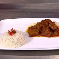 Mutton Bhuna Gosht: #Mutton cubes cooked with spices, yogurt and milk. Served with zeera rice. #Eid