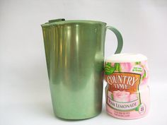 1960's Aluminum Green Water Pitcher by GreenTrifles on Etsy, $8.00