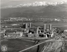 1967 Grenoble Echirolles construction du village olympique