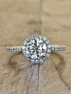 Unique Engagement Rings Ken & Dana Design - Charlotte top view