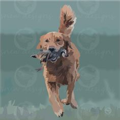 Golden Retriever | gundog | snewdesigns.co.uk Mans Best Friend, Best Friends, Lion Sculpture, Statue, Digital, Art, Beat Friends, Art Background, Bestfriends