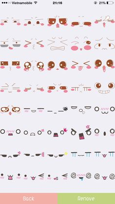 Carinhas lindas Emoji Drawings, Easy Doodles Drawings, Doodle Art Drawing, Cute Easy Drawings, Drawing Base, Kawaii Drawings, Manga Drawing, Kawaii Faces, Kawaii Art