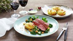 Reinsdyr mørbrad med Annapoteter Tuna, Steak, Fish, Spinach, Atlantic Bluefin Tuna, Steaks