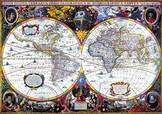 S VIKAS: World Map 17th Century