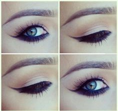 tutorial - darken under bottom lashes to make smaller or  droopy eyes pop ✿
