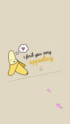 Another fav food pun for Valentine's Day! - Another fav food pun for Valentine's Day! Cute Wallpaper Backgrounds, Cute Cartoon Wallpapers, Flirty Puns, Cute Happy Quotes, Funny Food Puns, Iphone Wallpaper Video, Cute Puns, Easy Canvas Painting, Kawaii Wallpaper