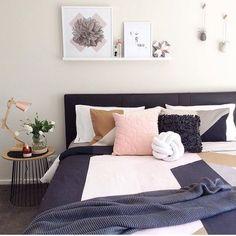 The Interior Design Institute Dream Bedroom, Home Bedroom, Master Bedroom, Bedroom Decor, Pretty Bedroom, Bedroom Inspo, Home Staging, Copper Bedroom, Interior Design Institute