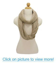 TrendsBlue Premium Solid Color Knit Infinity Circle Scarf - Diff Colors Avail