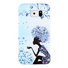 Samsung S6 Edge H�lle, Samsung S6 Edge TPU Case,H�lle f�r Samsung S6 Edge, Ultra Slim Soft TPU [Scratch-Resistant] [Perfect Fit] Cover, Fairy Girls Painted Skin Slim Muster Bunte Cover Schutz H�llen Handyh�lle Etui Schale Schutzh�llen f�r Samsung S6 Edge